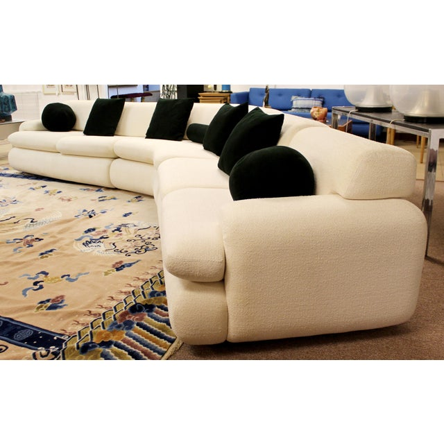 Contemporary Modern Kagan Style Preview 3 Pc Curved Sectional Sofa 1980s For Sale In Detroit - Image 6 of 11