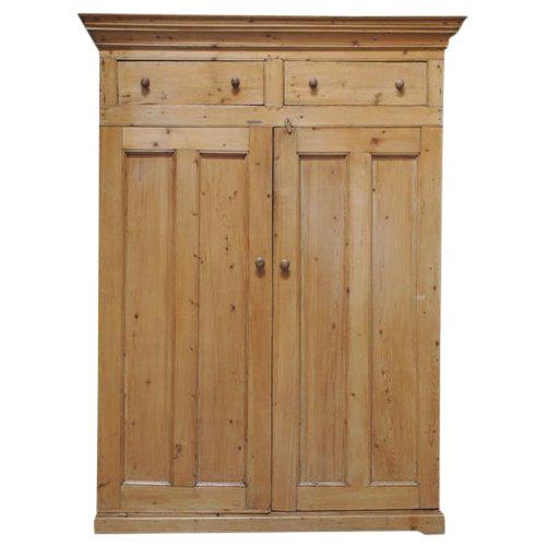 Two Door Pine Cabinet For Sale