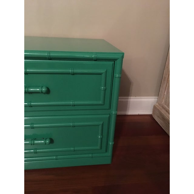 Dixie Furniture Lacquered Faux Bamboo Chest - Image 4 of 7