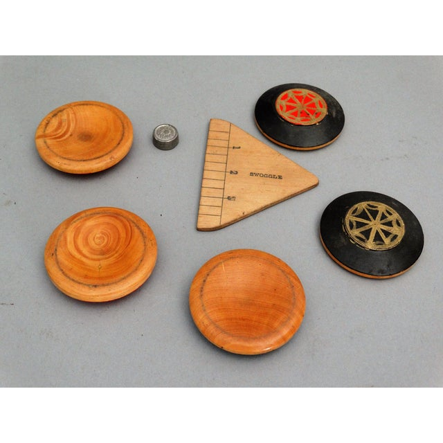 Cardboard 19th-Century English Squails Game, Rare For Sale - Image 7 of 10