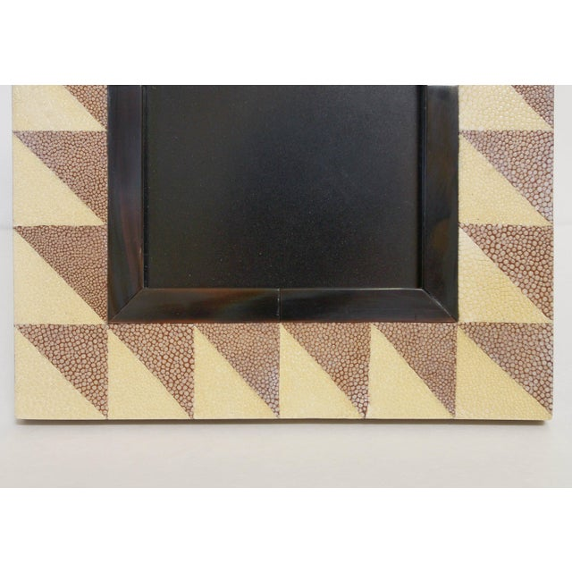 Fabio Ltd Shagreen and Horn Photo Frame by Fabio Ltd For Sale - Image 4 of 7