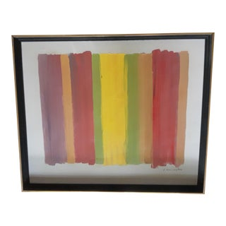 Mid Century Abstract Painting Color Study For Sale
