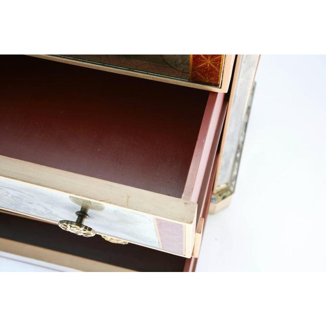 1940s Églomisé Mirrored Chest of Drawers - a Pair For Sale - Image 11 of 13