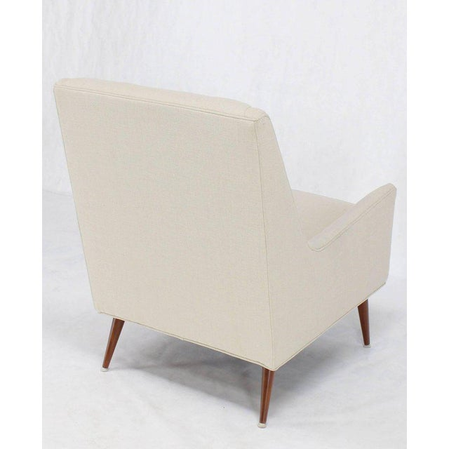 New Upholstery High Dowel Legs McCobb Lounge Chair For Sale In New York - Image 6 of 9