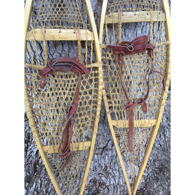 Vintage Ojibwe Snow Shoes - A Pair For Sale - Image 4 of 7