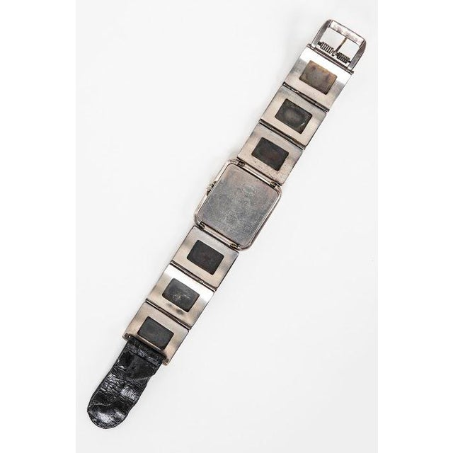 1980s Georg Jensen Private Commision Silver Watch Designed by Lene Munthe. For Sale - Image 5 of 6