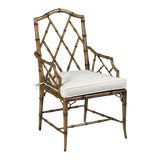 Image of Modern Faux Bamboo Arm Chair For Sale