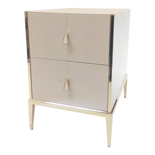 Caracole Shagreen Storage Side Table For Sale