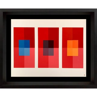 Josef Albers Original Silkscreen [Xiv-2] Ltd Ed. Color Study With Frame Included For Sale