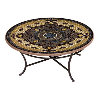 """Almirante 36"""" Coffee Table with Black Base For Sale"""