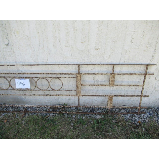 Antique Victorian Iron Gate Window Garden Fence Architectural Salvage Door #076 For Sale - Image 4 of 6