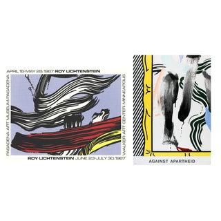 Bundle- 3 Assorted Roy Lichtenstein Brushstrokes Posters For Sale