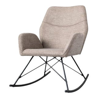Upholstered Modern Rocking Chair For Sale