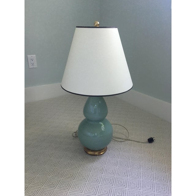 Transitional Gourd Lamp From Christopher Spitzmiller with Shade For Sale - Image 4 of 6