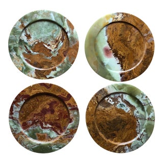 Collection of Onyx Chargers for Plates - Set of 4