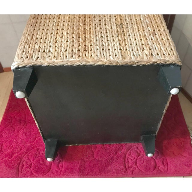 Wicker Rattan Cube Footstool, Table or Seat - Image 4 of 5