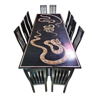 Def Leppard Snake Table - Unique and Previously Owned by Joe Elliott