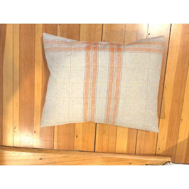 2010s Linen Tea Towel Pillows- Set of 3 For Sale - Image 5 of 7