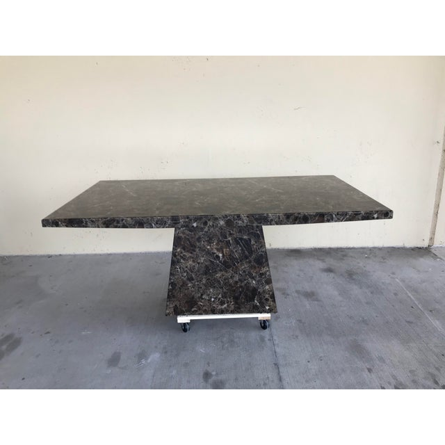 Maurice Villency Style Marble Dining Table For Sale - Image 13 of 13