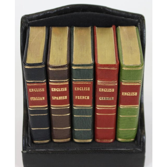 Miniature Italian, Spanish, German, French & English Dictionary Collection - Set of 5 - Image 2 of 5