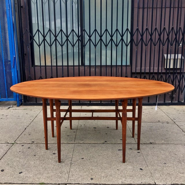 Mid-Century Drop Leaf Dining Table - Image 2 of 10