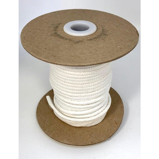 """Textile Braided 1/4"""" Indoor/Outdoor Cord in Bright White For Sale - Image 7 of 8"""