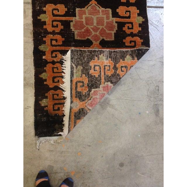 """Tibetan Lotus Pattern Rug - 3'1"""" x 5'9"""" - Image 6 of 7"""