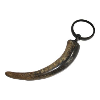 Vintage Carved Horn Magnifying Glass For Sale