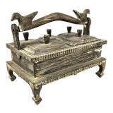 Image of 1900s Asian Hand Carved Wood Spice Box For Sale