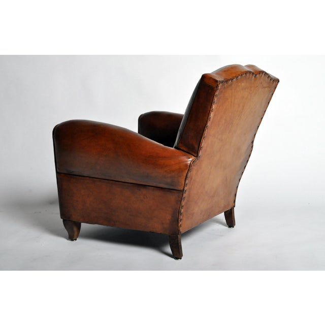 Art Deco Leather Club Chair - Image 5 of 11