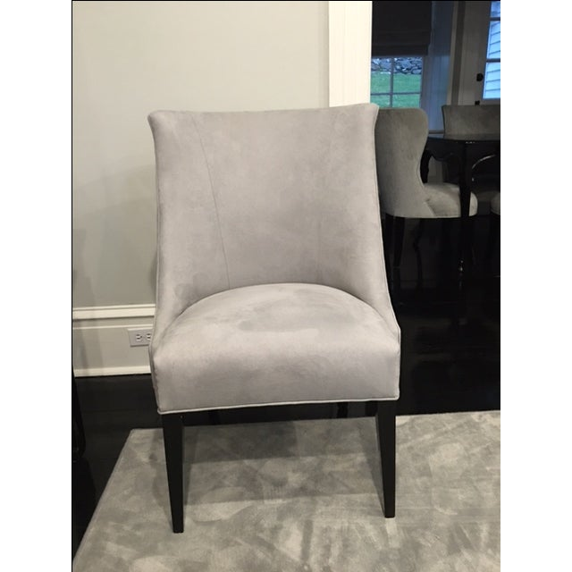 Vintage Chair With Donghia Gray Ultrasuede - Image 2 of 7