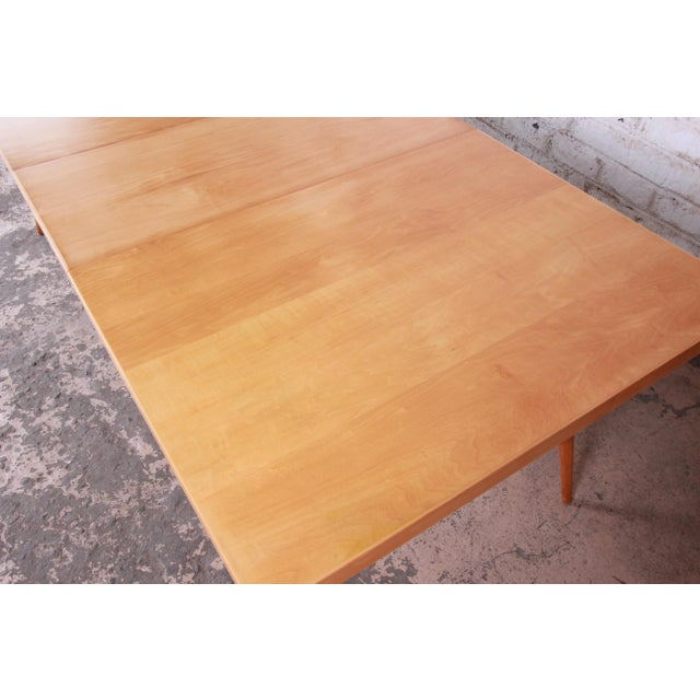 Planner Group 1950s Paul McCobb Planner Group Maple Extension Dining Table For Sale - Image 4 of 13