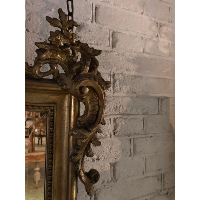 Late 19th Century 19th Century Mirror in the Style of Louis XV For Sale - Image 5 of 8