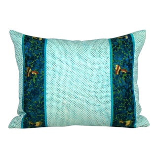 Chinese Hand-Embroidered Flower and Butterfly Pillow Cover For Sale