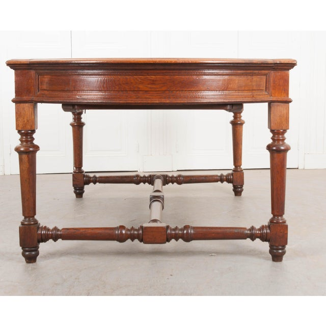 French 19th Century French Oak Sewing Table For Sale - Image 3 of 13