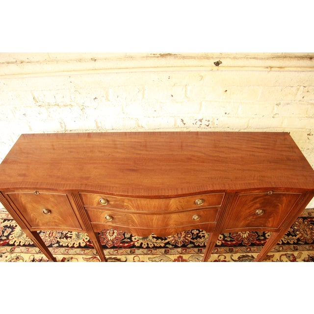 Federal Style Flame Mahogany Sideboard - Image 6 of 11