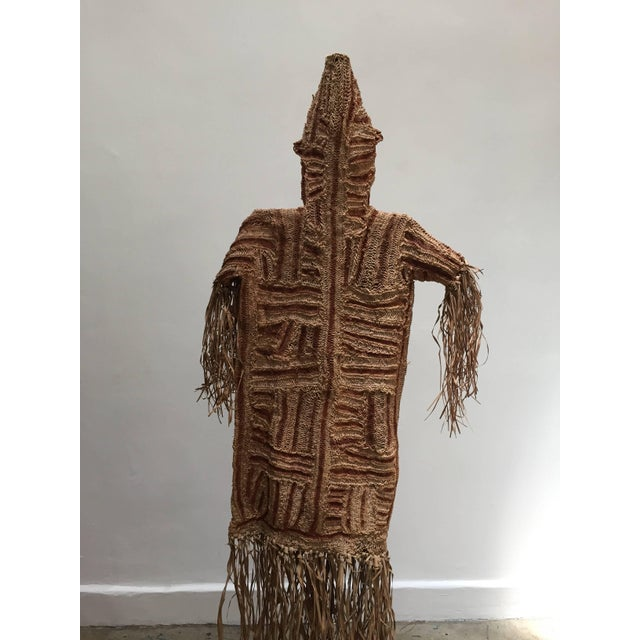 African 1960s African Art the Pende Spirit Dance Ceremonial Tribal Mask and Costume From Congo- Set of 3 For Sale - Image 3 of 13