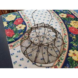 Antique French Country Egg Gathering Basket Preview