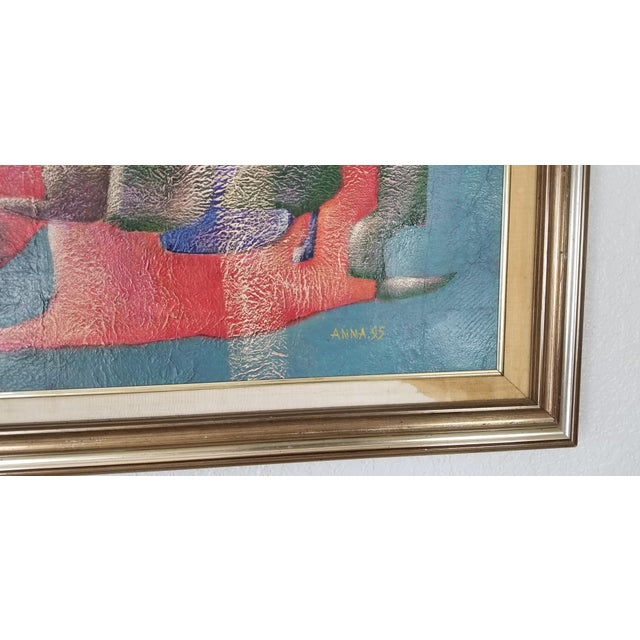 1990s 1990 Anna Goncharova Postmodern Style Abstract Painting For Sale - Image 5 of 13