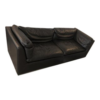 BoConcept Chocolate Leather Sofa For Sale
