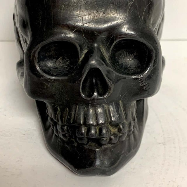 Antique German Gunmetal Skull Match Holder/Strike For Sale - Image 4 of 11