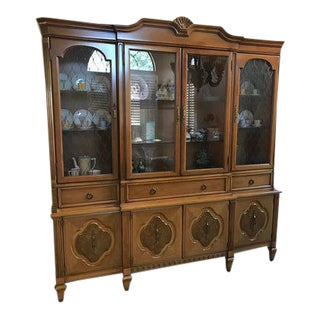 Lighted Fine China Display Cabinet