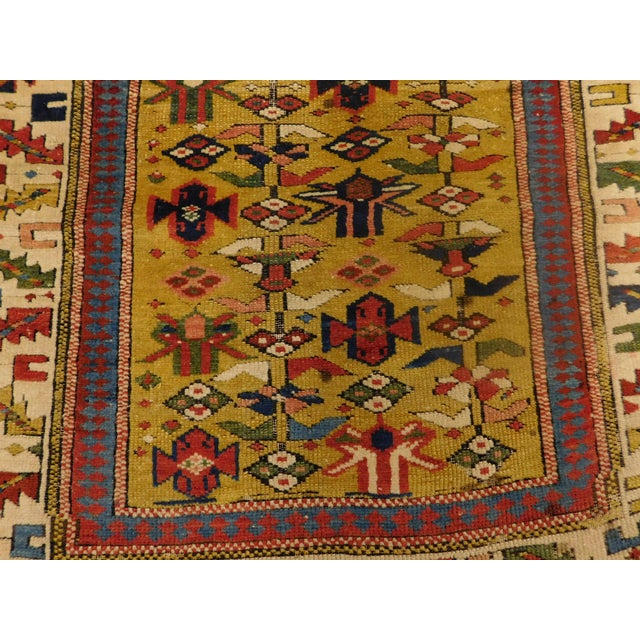 1900s Antique Caucasian Shirvan Runner For Sale - Image 11 of 13
