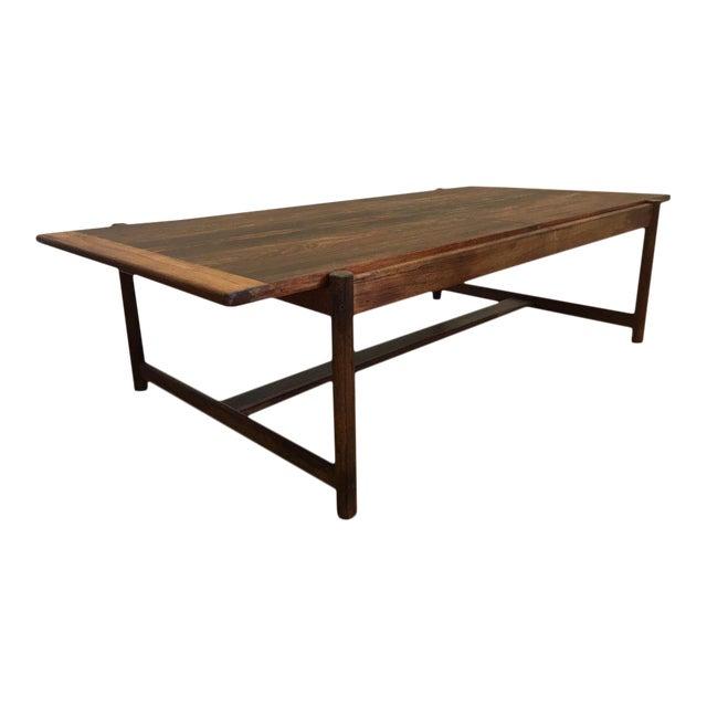 Danish Mid-Century Modern Rosewood Flip Top Coffee Table For Sale