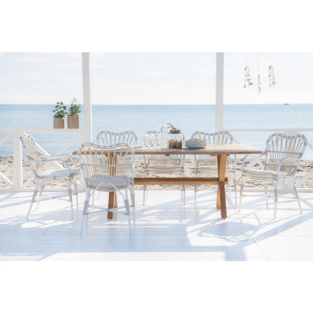 Modern Margret Exterior Dining chair - Dove White For Sale - Image 3 of 8