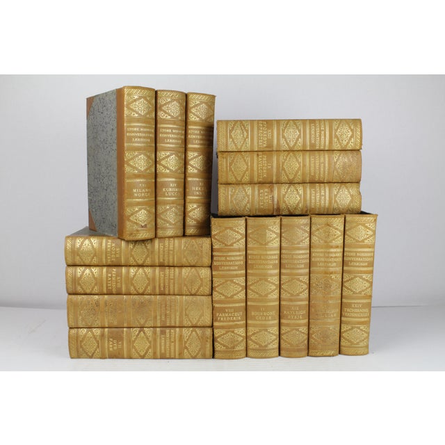 Art Deco Leather-Bound Books - Set of 15 - Image 2 of 3