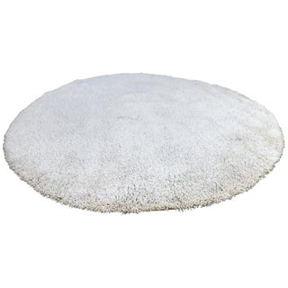 Large High Pile Large Round Wool Rug For Sale
