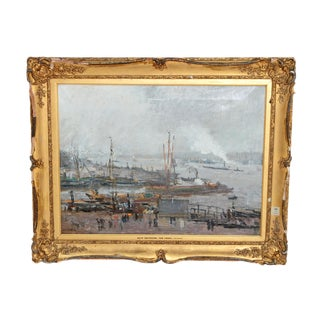 """Ship Entering the Canal"" by Cossaar (1874-1966) / Dutch Artist For Sale"