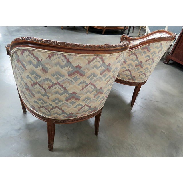 Regency Style Club Chairs - a Pair For Sale - Image 10 of 13