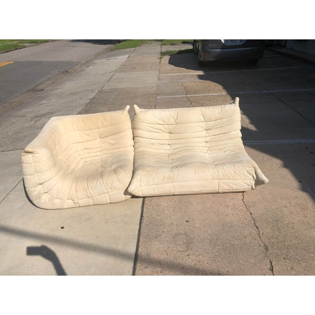 1970s Mid-Century Modern Ligne Roset Togo French Sectional Sofas - 2 Pieces For Sale - Image 12 of 13